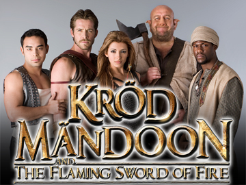"Krod Mandoon (l-r): Marques Ray (""Bruce""), Sean Maguire (""Kršd MŠndoon""), India de Beaufort (""Aneka""), Steve Speirs (""Loquasto""), Kevin Hart (""Zezelryck"")"