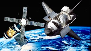 skylab and USA shuttle