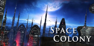 space colony wallpaper