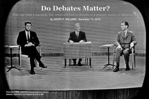 Do Poltical Debates Matter