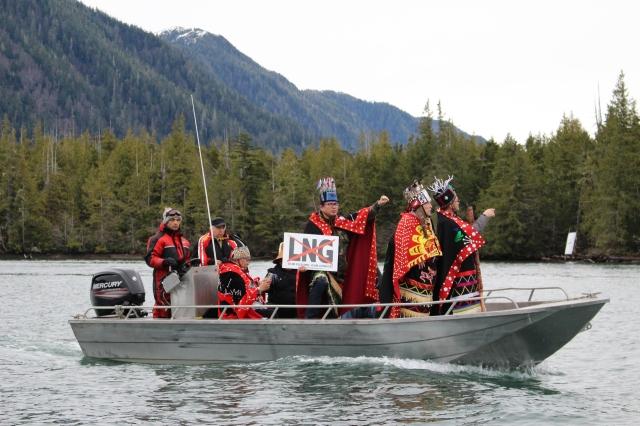 Lelu Island Wetsuweten boat