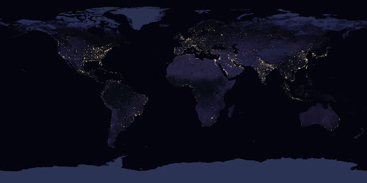 Global map of Earth at Night