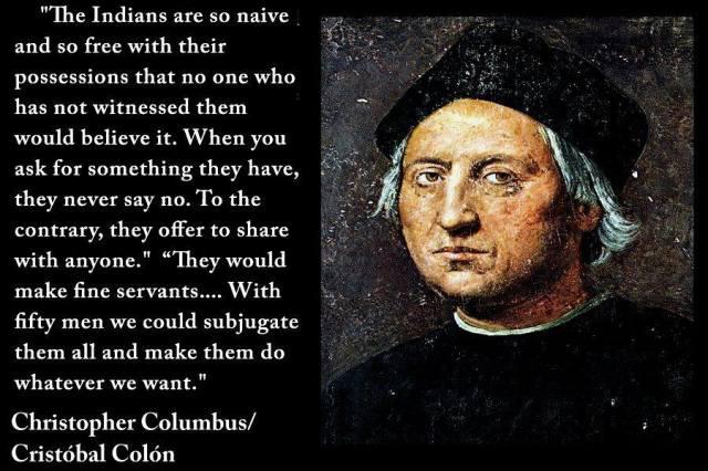 chris columbus quote on naive natives